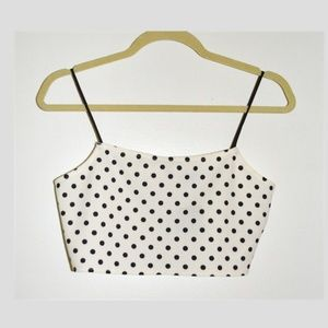 New with Tags!! Topshop Polka Dot Crop Top
